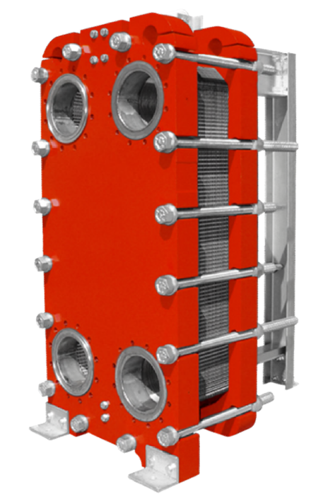 trocador de calor de placas para amônia semissoldada